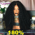 8A Top Quality Full Lace Human Hair Wigs Brazilian Kinky Straight Lace Front Wigs 180% Thick Full Lace Wigs For Black Women