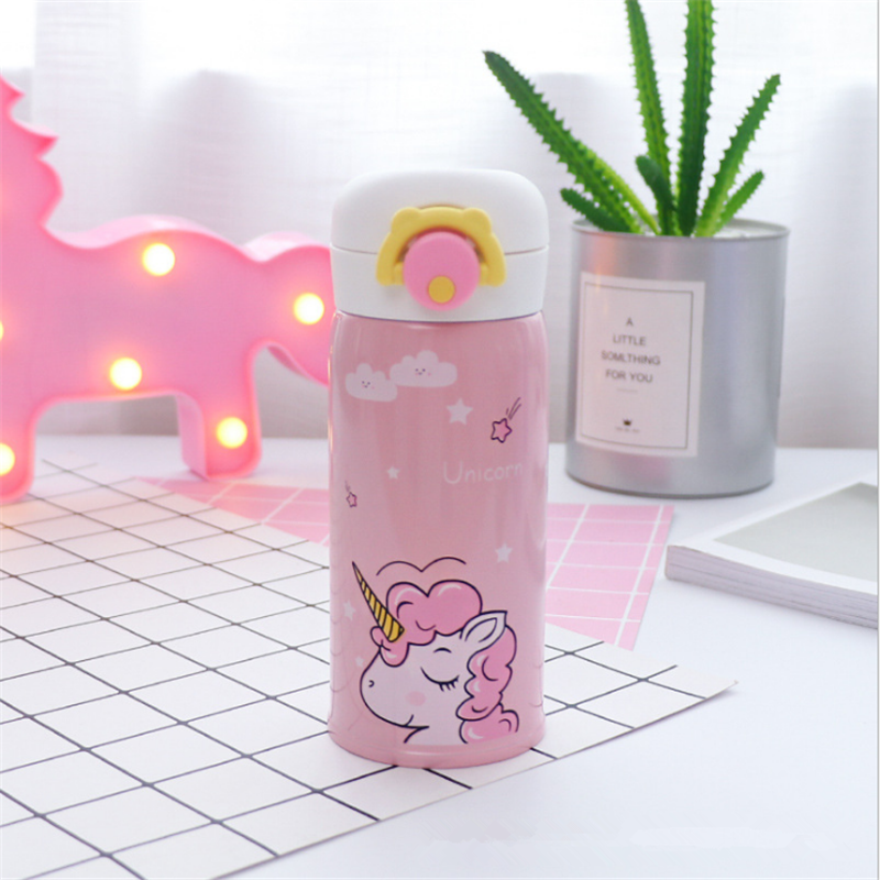 350ml and 500ml Thermal Flask and Unicorn Mug with Strainer for Warm Milk and Water 8