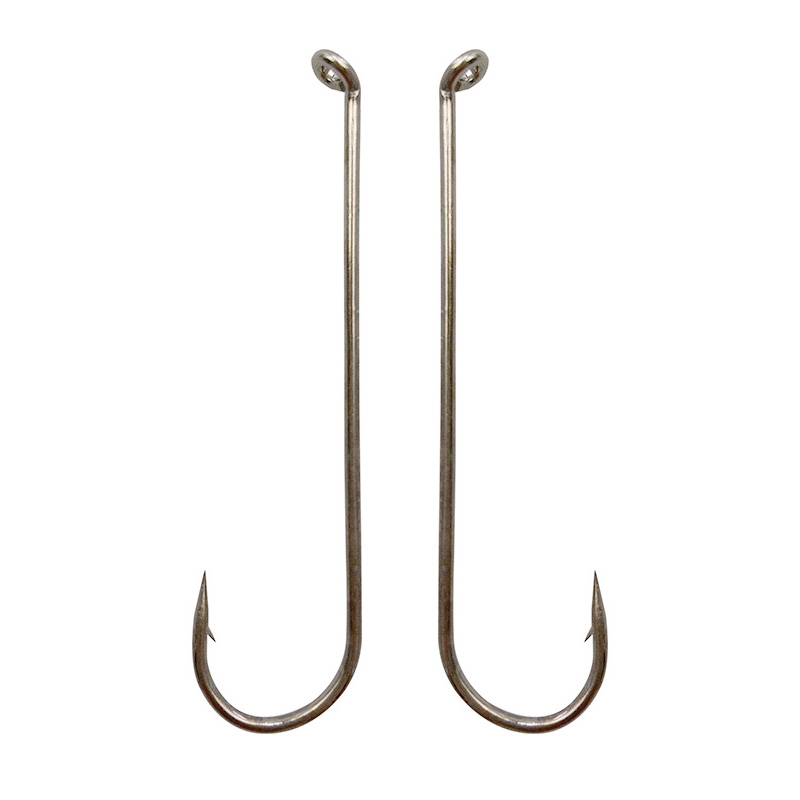 100pcs 79580 high carbon steel fishing hooks white long for Tie fishing hook