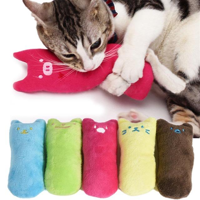 Cute Pillow Scratch Crazy Cat Kicker Catnip Toy Teeth Grinding Toys