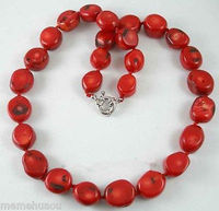 Hot sale Beautiful Tibet Real red coral beads necklace ,18''