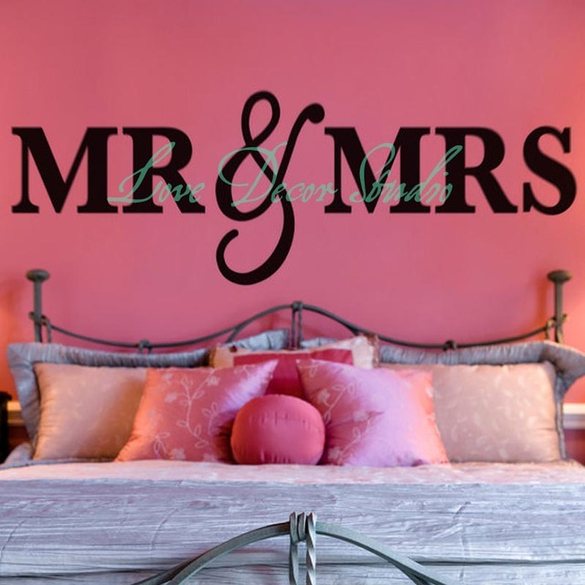 bedroom signs. Mr  Mrs Wall Sign for Bedroom Decor and Over Headboard