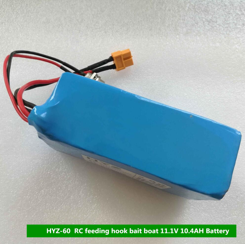 цена на Free shipping Original HYZ-60 RC bait boat Spare Parts 11.1V 10.4AH battery For HYZ-60 Remote Control Fishing B