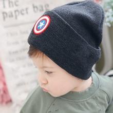 New 2 to 9 years old Winter Captain Children Boy Girl Hip-hop Hip-hop Winter Warmer Knit Ca