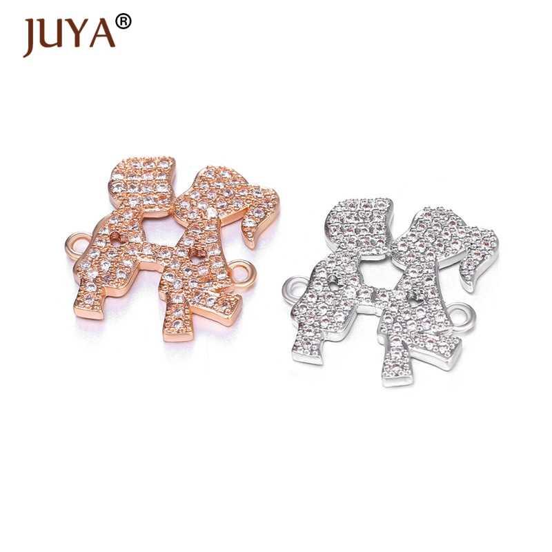 Juya 2019 thiết kế Dễ Thương bé trai Kiss bé gái kết nối cho trang sức Kawaii hạt làm vòng tay phụ kiện phát hiện tay nghề thủ công