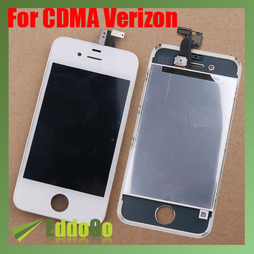 LCD Display Touch Screen Digitizer Assembly For Verizon CDMA for iphone 4 4G White black white lcd touch screen lens display digitizer assembly replacement for iphone 4 4g gsm cdma