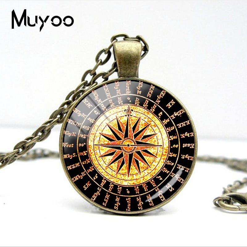 HTB1vbn5V8LoK1RjSZFuq6xn0XXaD - Vintage Old Compass Rose Steampunk Style Glass Cabochon Pendant Necklaces Glass Color Compass Jewelry Nacklace Gifts