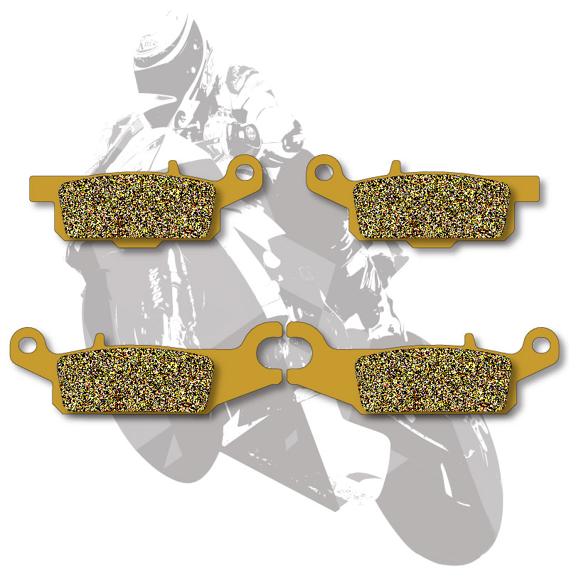 Motorcycle Disc Brake Pads Front Rear For YAMAHA ATV RAPTOR 250 R / YFM250R 2008-2013 GRIZZLY 550 / YFM550 2009-2015