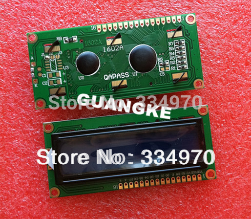 Free Shipping 10pcs/lot LCD1602 LCD 1602 blue screen with backlight LCD display 1602A-5v