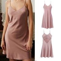 LILYMODA Women's sexy underwear simulation silk Wedding Silk Dress Sleep Wear Nightdress sexy lounge satin sleepwear