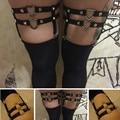 Sexy Garter BeltS custom Harness cinta liga punk Harajuku harness cage Summer rave wear spandex leg cage Bride garter Bohemia