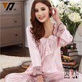 Stylish Ladies Silk Sleepwear Pajamas Sets For Women Tracksuit Set Pyjama Wear At Home 4 Colors L-XXXL