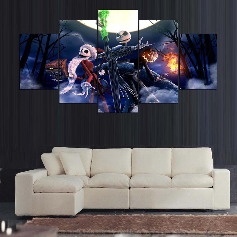 Large Framed Kids Bedroom Modern Indoor Nightmare Before Christmas ...