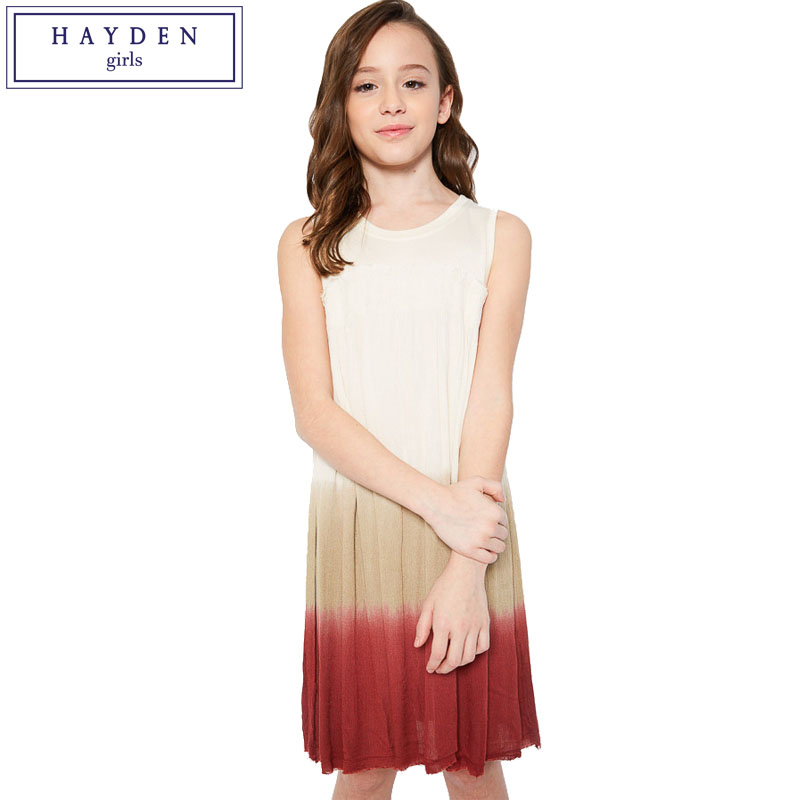 HAYDEN Casual Sleeveless Dress Girl 12 Years Girls Dress Summer 2017 Brand Clothing Kids Vest Dresses Teenage Girls Fashion marburg astoria 53734