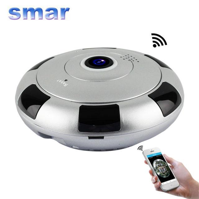 El más nuevo mini cámara ip inalámbrica 960 p hd smart 360 vr panorámica grado red cctv cámara de seguridad inicio de vigilancia de protección