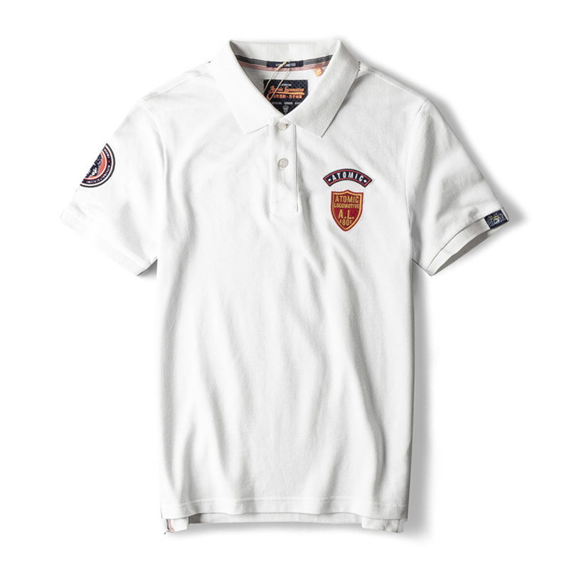 Dropshipping GustOmerD 2019 Brand Men's   Polo   Solid Slim Fit 100% Cotton   Polo   Shirt Men Fashion Embroidery   Polos   Men