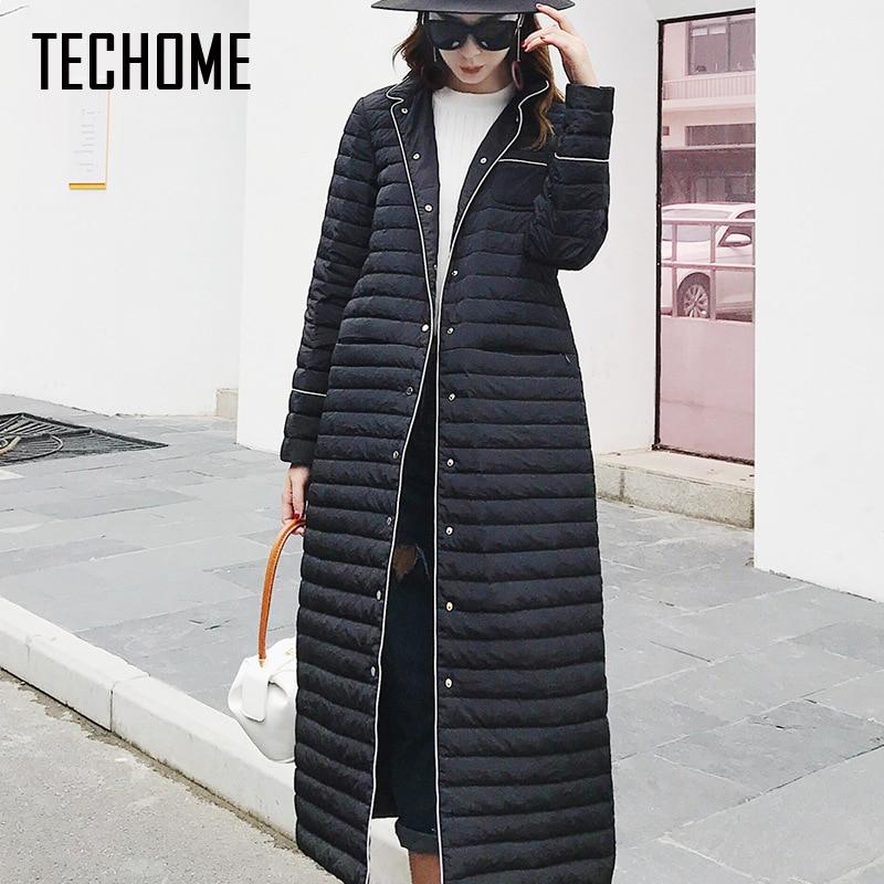 Fashion New Design Winter Ladies Ultra Light 90% Duck   Down   Jackets Women Polka Parkas Long Winter Warm Casual   Coat     Down   Jacket