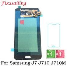 Super AMOLED ЖК-дисплей Дисплей для samsung Galaxy J710 SM-J710FN/DS J7 2016 J710M J710H сборка ЖКД с сенсорным экраном
