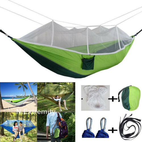 Military Jungle Hammock Mosquito Net Camping Travel Parachute Hanging Bed Tent