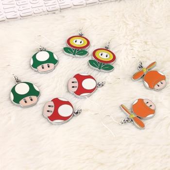 Animal game Super Mario Cute Cartoon Earring Women Girl Kids Piercing Ear Stud Earrings bijoux Jewelry Trinket Gift Souvenirs Пирсинг ушей