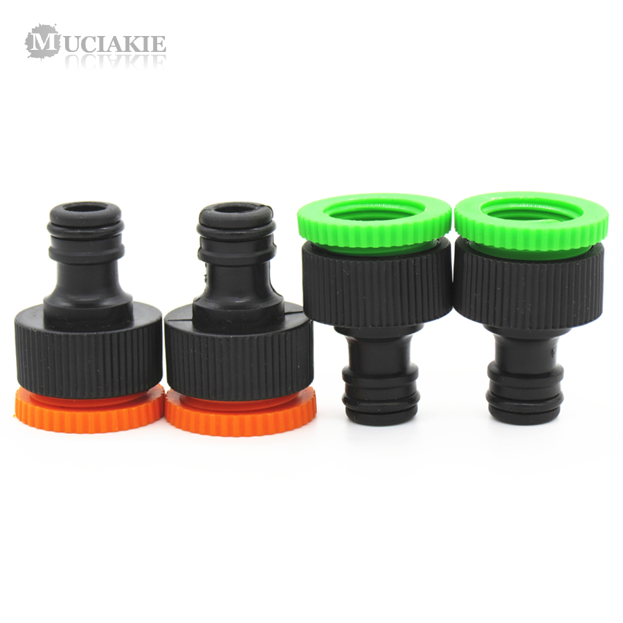 MUCIAKIE 2PCS 1/2'' 3/4'' Female Thread Quick Connector Garden Tap Watering Hose Pipe Adapter Fittings For Irrigation Syst