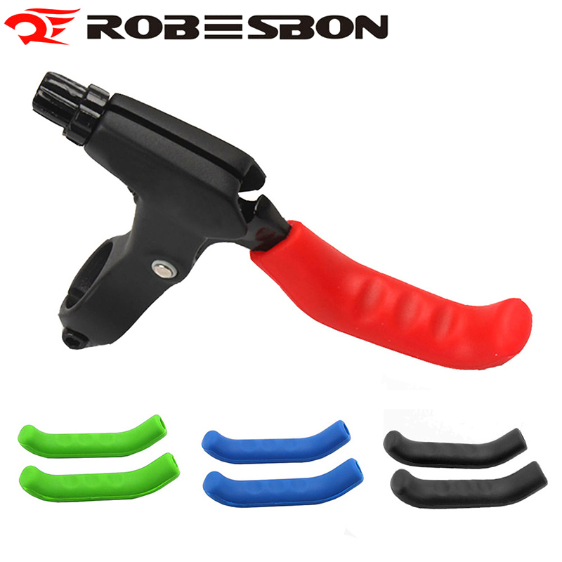 ROBESBON Cover Bicycle Handle Sleeve Silicone Red Mountain Bike Protector Anti-Skid Cycling Accessories