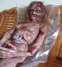 Halloween Horror Death Bodies Plastic Bloody Zombie Scary Room Props for KTV Bar Haunted House Decoration