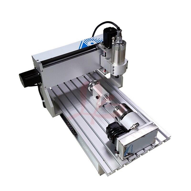 Port USB!! 3D CNC routeur 6040 4 axes CNC fraiseuse avec 1.5kw spinlde, interrupteur de fin de course, vis à billes CNC graveur + 4 pièces pinces - 2