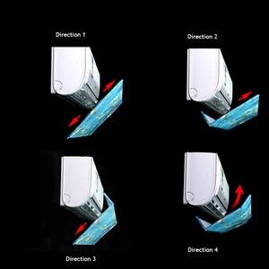 Image 3 - قابل للتعديل زاوية تكييف الهواء حاجز الرياح نسيج البوليستر للمنزل غرفة نوم الحائط مكيف الهواء Deflect AQ118