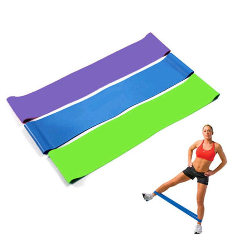 Yoga Resistance Band Loop Yoga Pilates Home GYM Fitness Exercise Workout Training Yoga Tension Band 500MM50MM0.5MM #2D07 (3)