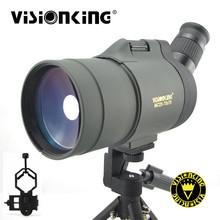 Visionking 25-75 #215 70 profesjonalna luneta do polowania obserwacja ptaków BAK4 wodoodporny monokularowy teleskop z przejściówka do telefonu tanie tanio 25-75x70 With Bag With Tripod