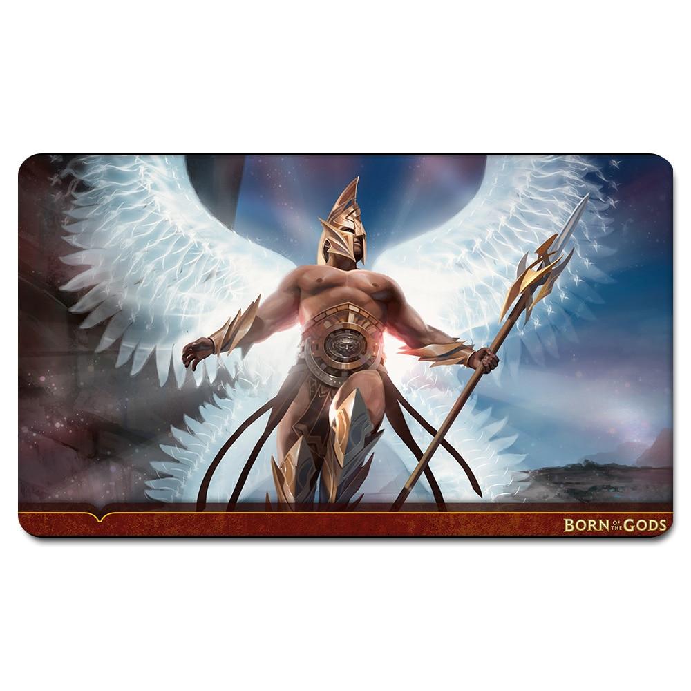 (AKROAN SKYGUARD PLAYMAT) Limited Edition 35X60CM MGT Games Playmat Magic Card Games Playmat With Free Gift Bag