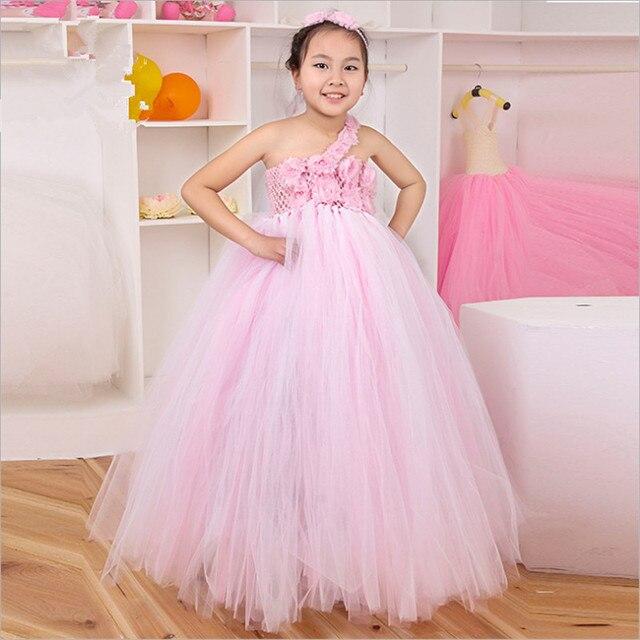 Handmade Flower Girl Dress Princess Tutu Dress Vestidos Infantis ...