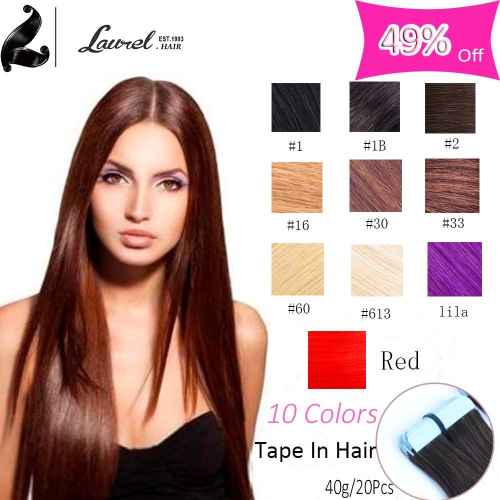 10 Colors Wholesales Price font b Brazilian b font Tape In Human font b Hair b