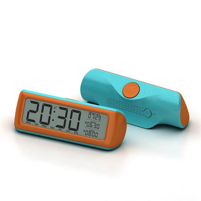 Simple electronic LCD display digital alarm clock clock for ...