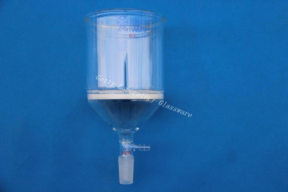 1000mL Buchner funnel, 1L, C-Coarse filter, with 10mm hose24/29 joint, (laboratory glassware) graham condenser 300mm length 24 29 joint 10mm hose connection laboratory instrument