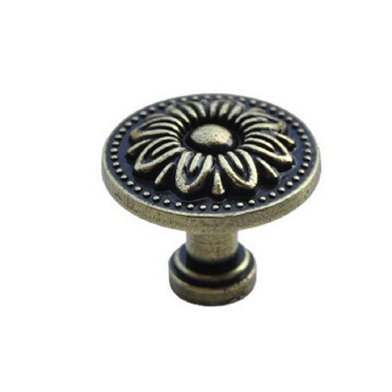 1pc Antique Drawer Round Pulls Handles for Cupboard Wardrobe  Drawer Door Knobs  Furniture Fasteners with Screw
