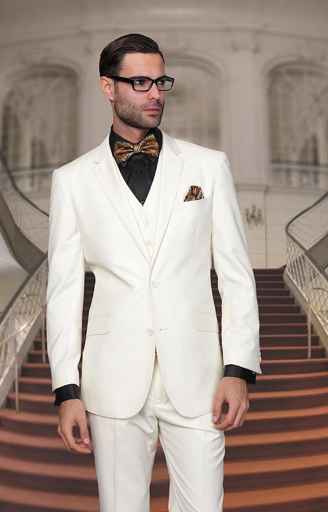 Latest Coat Pant Designs Ivory Beige Jacket Men Wedding Suits Slim Fit 3 Piece Blazers Custom Tuxedo Groom Suit Terno Masculino