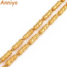 Anniyo Dragon collier chaîne épaisse pour hommes, couleur or bijoux père mari cadeaux danniversaire homme africain bijoux #006825
