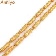 Anniyo ejderha kolye kalın zincir erkekler için, altın renk takı babalar koca doğum günü hediyeler afrika adam mücevherat #006825
