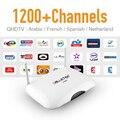 Dalletek Android Cielo Europeo Francés Holanda Turco IPTV Caja 1200 Plus Sport África Canales Fuerte Wifi IPTV Set Top Box