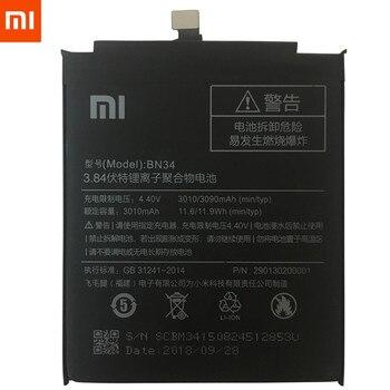 """100٪ الأصلي بطارية الهاتف BN34 ل xiaomi redmi 5a 5.0 """"استبدال البطارية ريال 3000 مللي أمبير بطاريات الهاتف عالية السعة 1"""