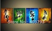 buy at disscount price Music art Large hand-painted Art Oil Painting Wall Decor canvas(no framed)  (no free shipping