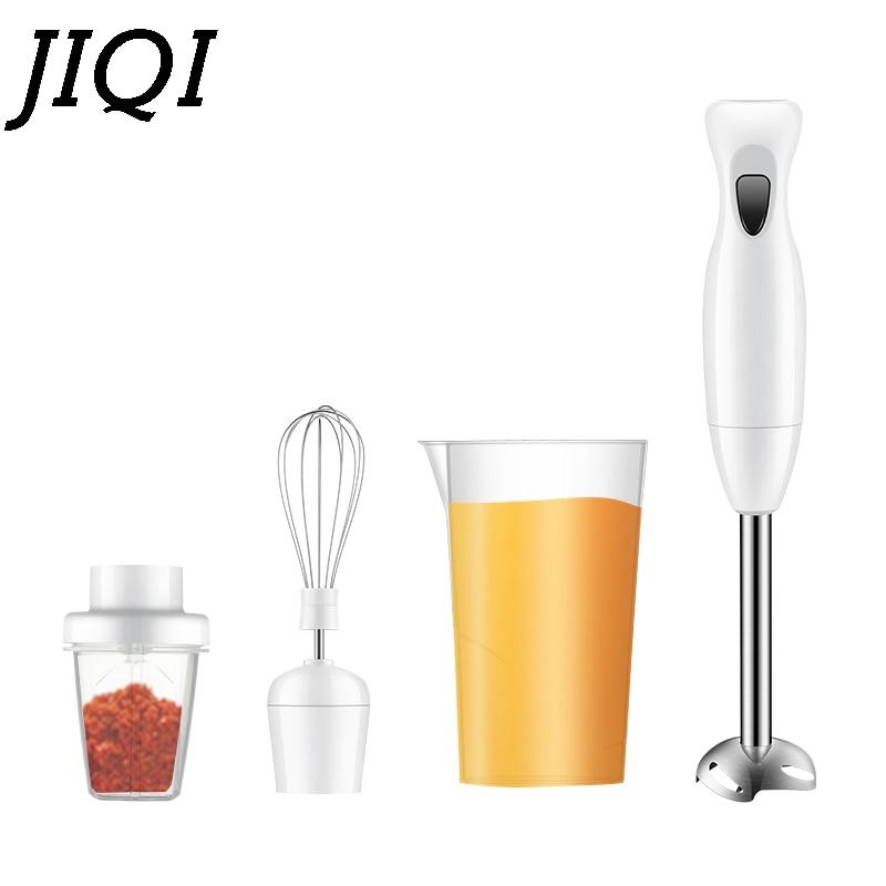 JIQI Multifunction Electric Hand Blender Egg Beater Fruit Vegetable Mixer Chopper Whisk Juicer Meat Grinder Food Processor Stick
