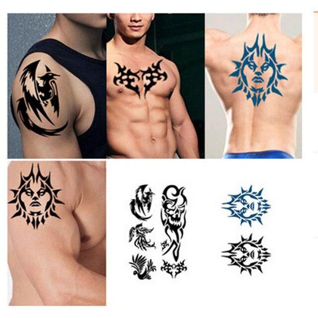 Pcs Set Waterproof Tattoo Sticker Men Half Sleeve Arm Back Print Temporary Tattoo Body Art