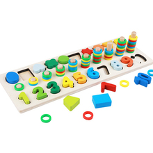 цена Baby Montessori Math Toys Digital Shape Pairing Learning Preschool Counting Board Educational Kids Wooden Toys for Children Gift онлайн в 2017 году