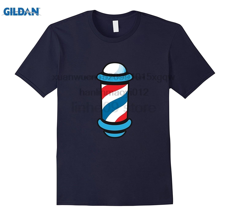 GILDAN Barber Shop Old School Red White Blue Spinning T-Shirt Emoji