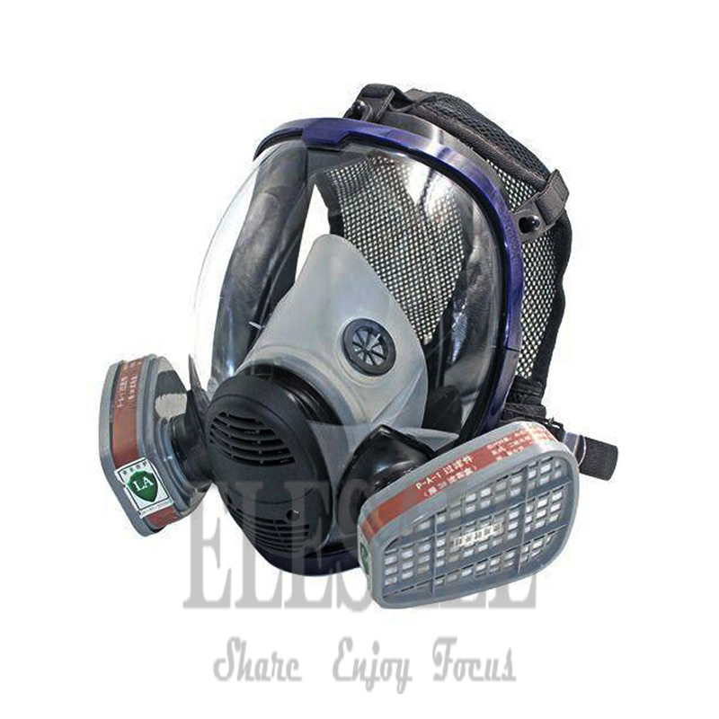 New Industrial 6800 Full Gas Mask Respirator With Filtering Cartridge For Painting Spraying Similar For 3M 6800 Work Safety 3m 6300 6003 half facepiece reusable respirator organic mask acid face mask organic vapor acid gas respirator lt091