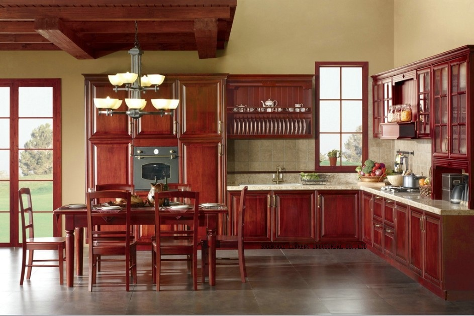 Best Deal Solid Wood Disassemble Kitchen Cabinets Lh Sw060