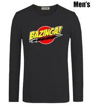 Bazinga Big Bang Theory Sheldon Cooper Print Men's Boy's T Shirts Casual Long Sleeve Newest High-quality Men T-shirt
